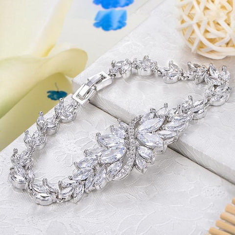 Bracelets-Exquisite Luxury George Smith Rhinestone AAA Zircon Crystal Bracelet for Wedding