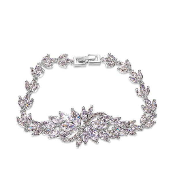 Exquisite Luxury George Smith Rhinestone AAA Zircon Crystal Bracelet for Wedding