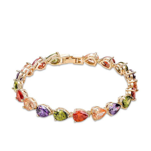 George Smith Eye-Catching Multicolor Zircon Charming Ladies Crystal Bracelet