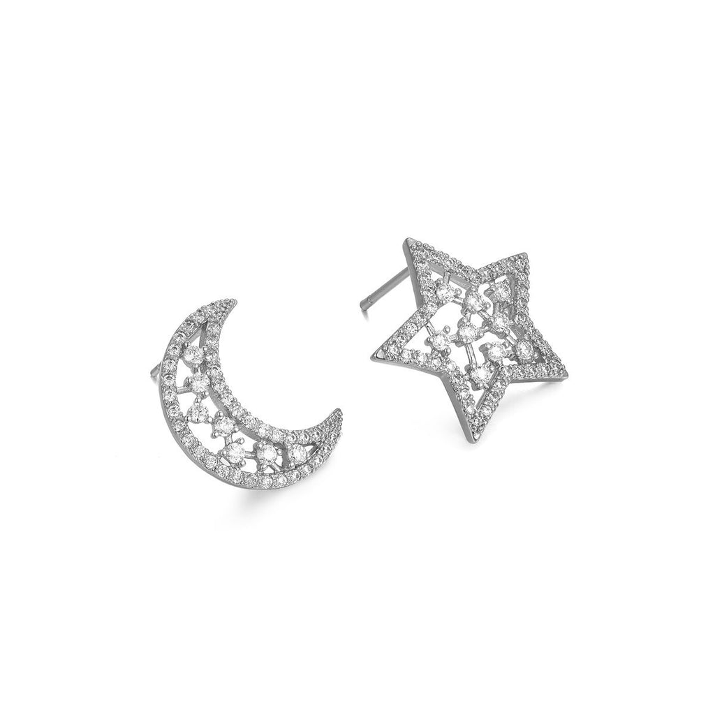 Flash Sale-Moon and Star Earrings