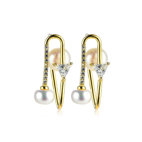 Earrings-Pearls Drop Earrings