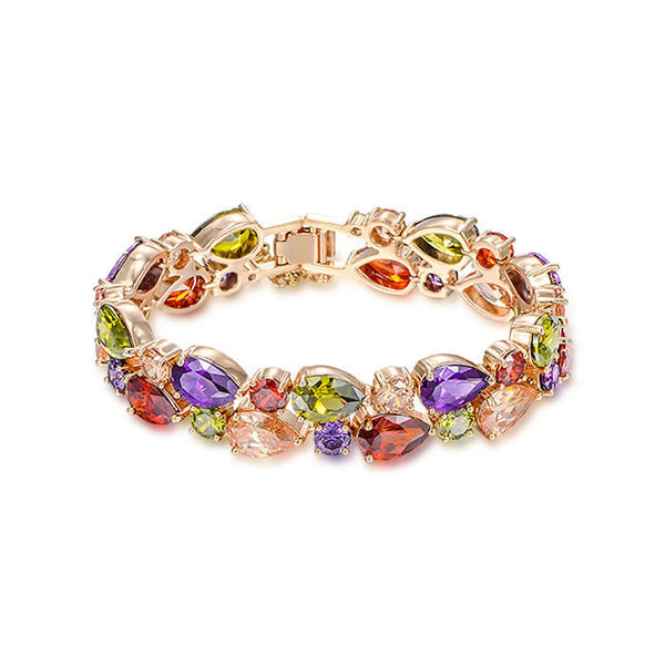 Romelar Rom0012 George Smith Charming Colorful Zircon Crystal Luxury Bracelet AAA Zircon Bridal Accessory  1060143282