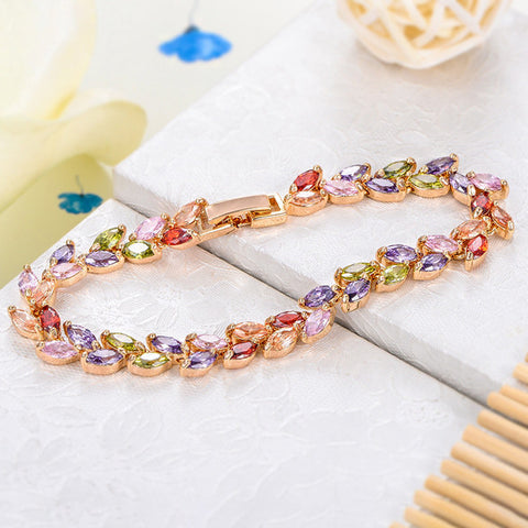 Bracelets-Romelar Rom0014 George Smith Handmade Luxury Bracelet Colorful Zircon Charming Crystal Zircon Bracelet 1060181386