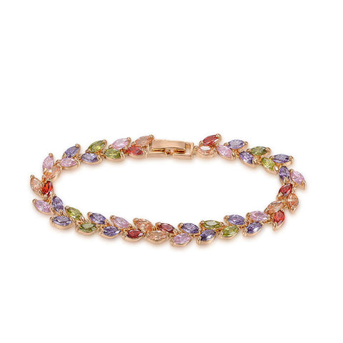 Romelar Rom0014 George Smith Handmade Luxury Bracelet Colorful Zircon Charming Crystal Zircon Bracelet  1060181386