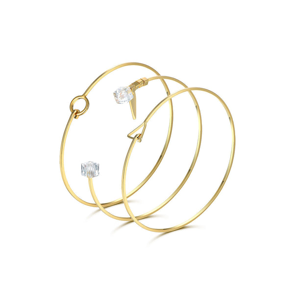 Simple Geometry Bracelets Set
