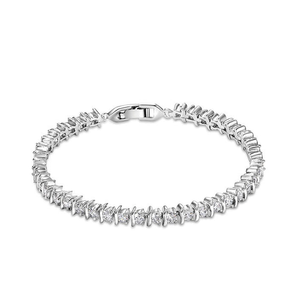 Simple Luxury George Smith Double Row Rhinestone AAA Zircon Crystal Bracelet for Wedding