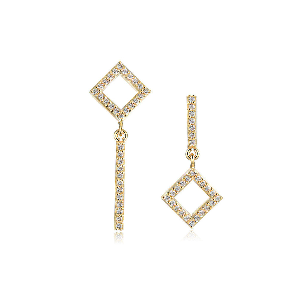 Earrings-Square World Earrings