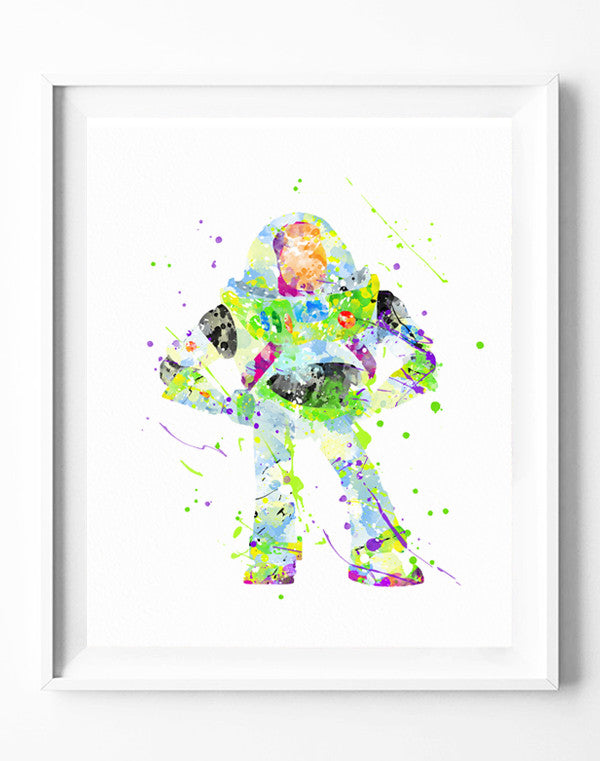Disney Toy Story Poster Buzz Lightyear Art Print Watercolor Painting ...