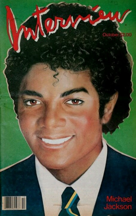 Vintage Interview Magazine - Michael Jackson