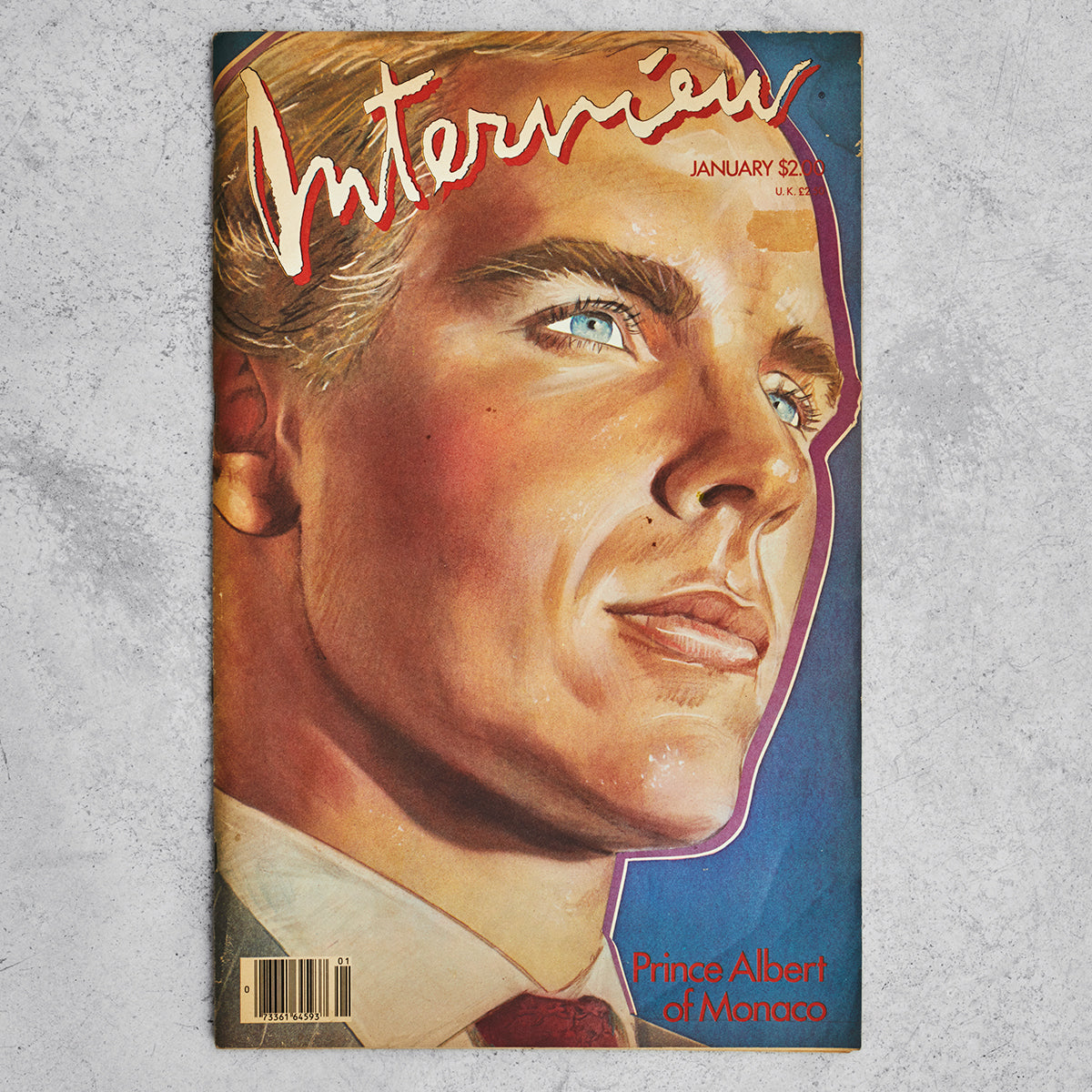 Vintage Interview Magazine - Prince Albert of Monaco