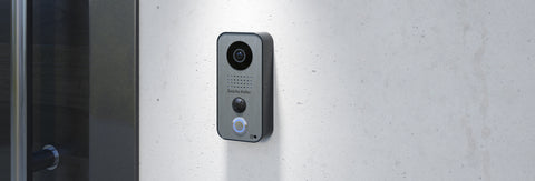DoorBird IP Intercom Video Door Station D101S, Polycarbonate housing, Silver Edition