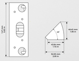 Doorbird A8002 Wall Mount Adaptor for D1101V - Corner Adaptor