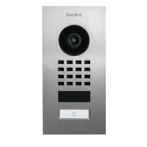 DoorBird IP Intercom Video Door Station D1101V, Flush Mount Stainless Steel Metallic Finish