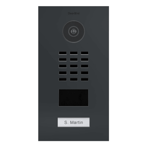 DoorBird IP Intercom Video Door Station D2101V Flush Mounted - Semi-Gloss