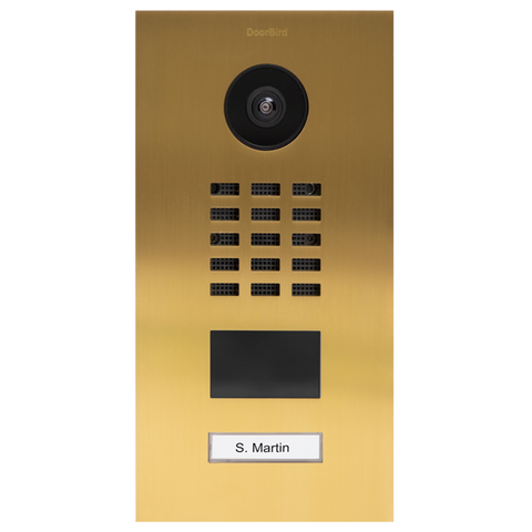 DoorBird IP Intercom Video Door Station D2101V Flush Mounted - Metallic Finish