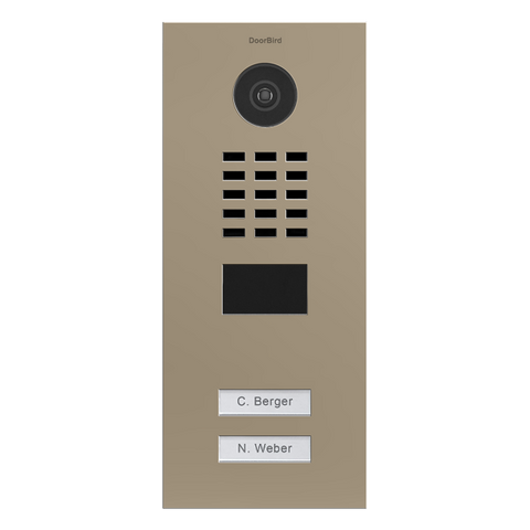 DoorBird Multi-Dwelling IP Intercom Video Door Station D2102V - Flush Mount - 2 Call Buttons - Semi-Gloss