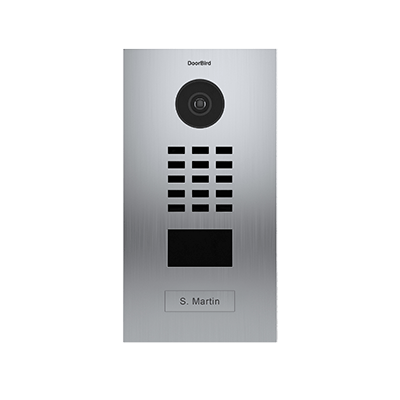 DoorBird IP Intercom Video Door Station D2101V V4A Flush Mounted - Metallic Finish - Opened & Tested