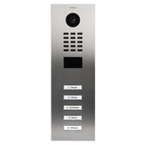 DoorBird Multi-Dwelling IP Intercom Video Door Station 4 - 18 Call Buttons - Flush Mount - Metal Finish