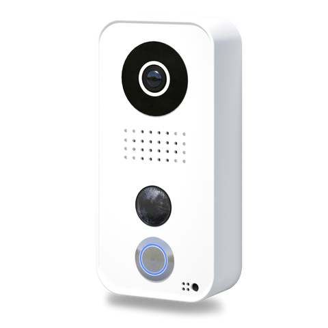 DoorBird IP Intercom Video Door Station D101, Polycarbonate housing, White Edition