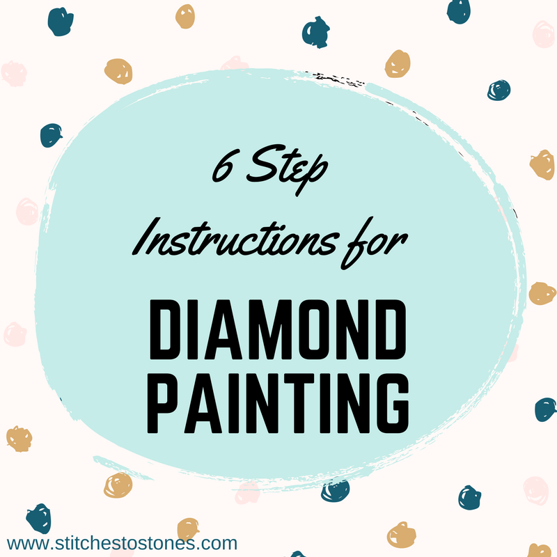 6 Step Instructions for Diamond Painting