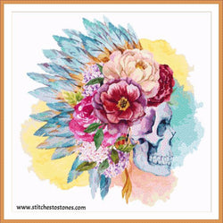 Boho Skull Full Coverage 5D Diamond Painting Kit