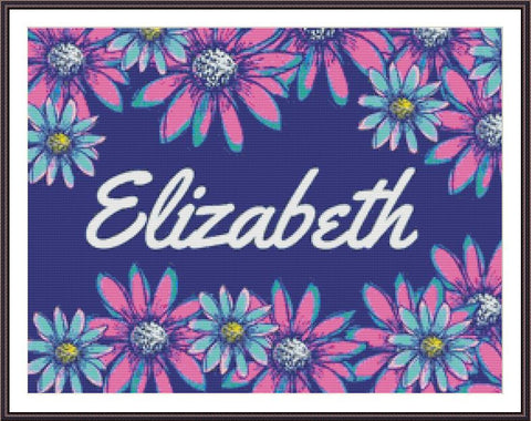 Custom Name - Daisies 5D Full Coverage Diamond Painting Kit