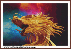 Golden Dragon Full Coverage 5D Diamond Painting Kit