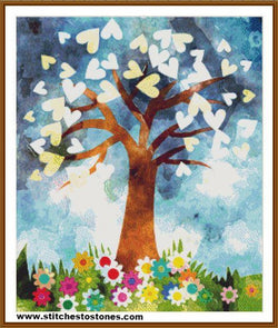 Heart Tree Full Coverage 5D Diamond Painting Kit