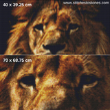 Lion Portrait Full Coverage 5D Diamond Painting Kit