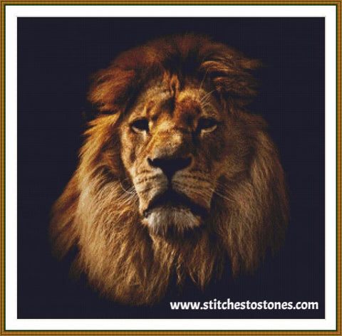 Lion Portrait Diamond Painting
