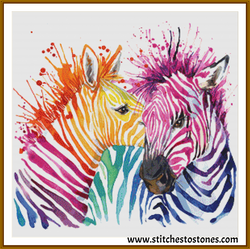 Rainbow Zebra Diamond Painting