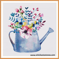 Shabby Chic Flower Pot Diamond Painting