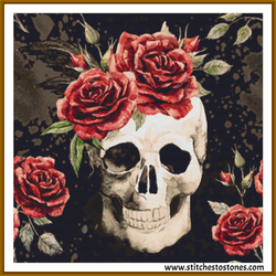 Skulls n Roses Full Coverage 5D Diamond Painting Kit