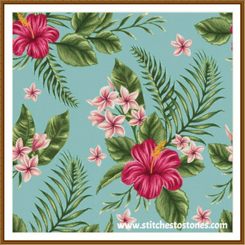 Tropical Hibiscus Diamond Painting