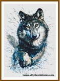 Watercolour Wolf Full Coverage 5D Diamond Painting Kit