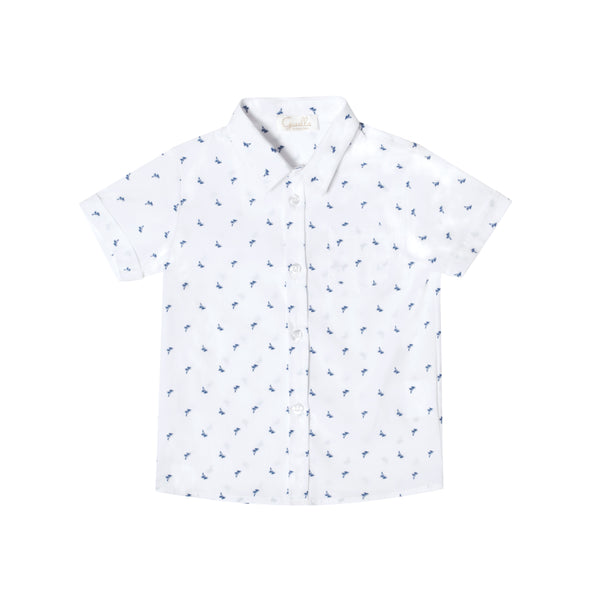 CHANIA PALM BLUE SHIRT