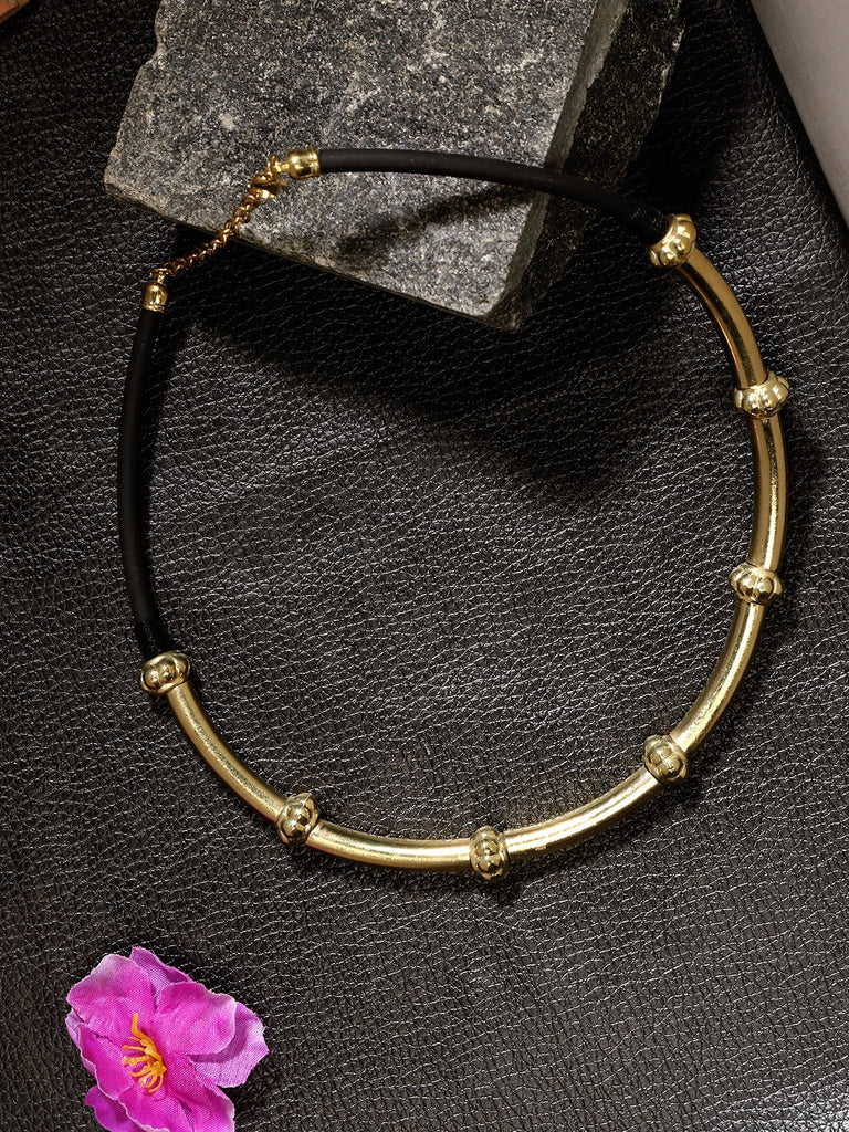 Infuzze Gold-Plated  Choker Alloy Necklace - Z0091