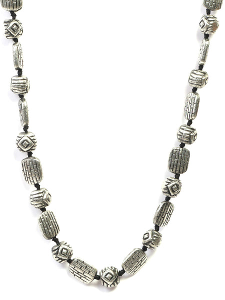 Infuzze Silver-Plated Tribal Alloy Necklace - Z0046