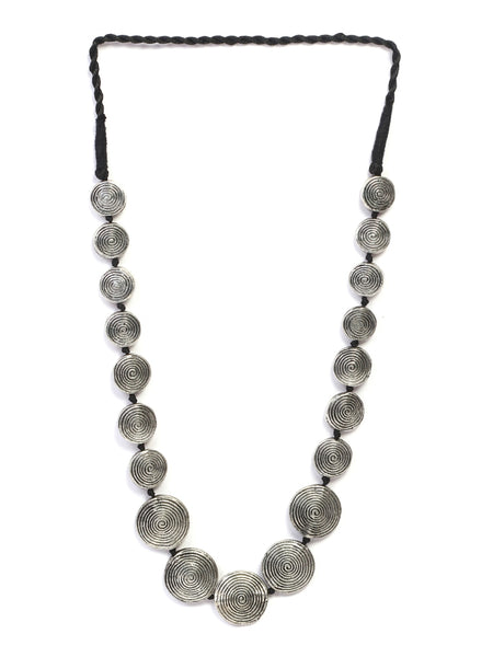Infuzze Silver-Plated Tribal Alloy Necklace - Z0048