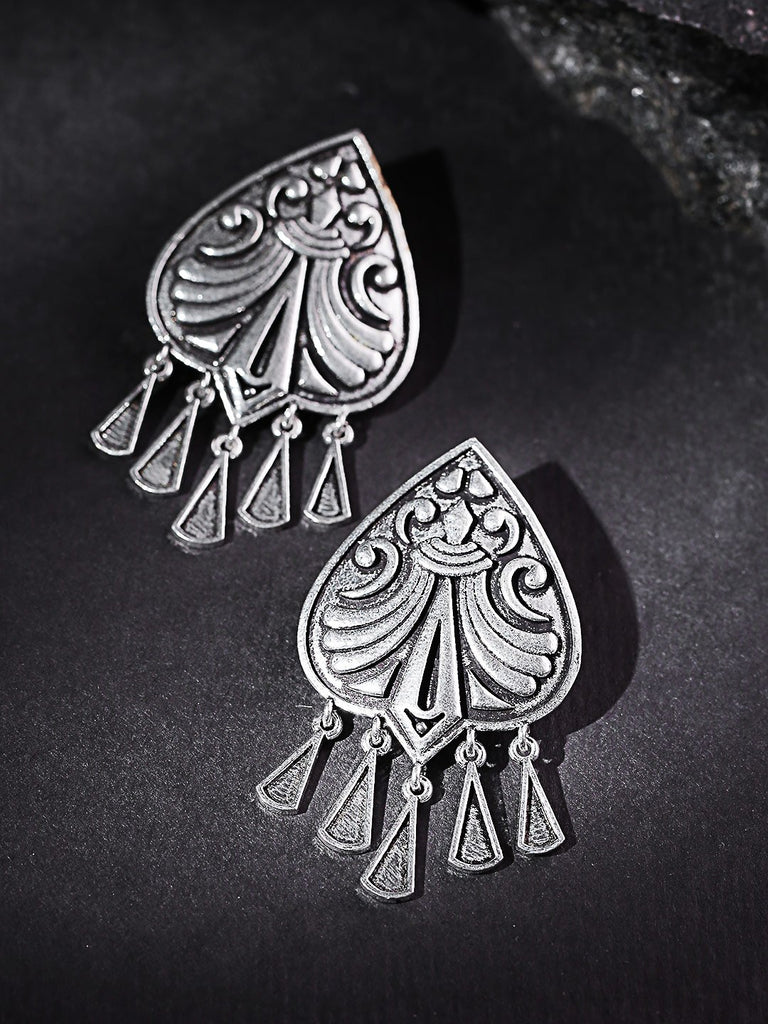 Oxidised Silver-Plated Classic Drop Earrings