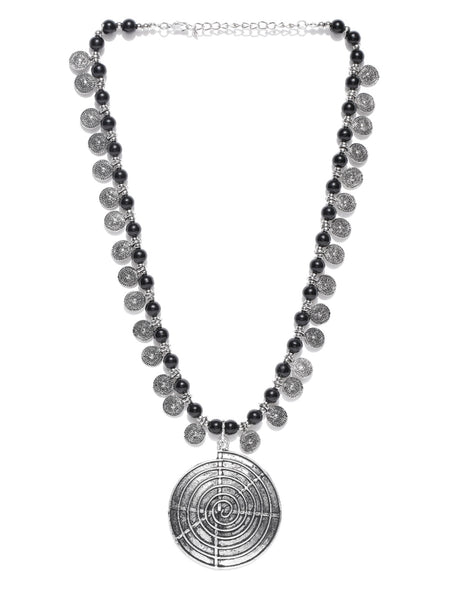 Infuzze Oxidised Silver Toned Necklace Alloy Necklace - L028