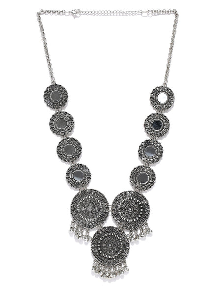 Infuzze Alloy Mirror Necklace - L031