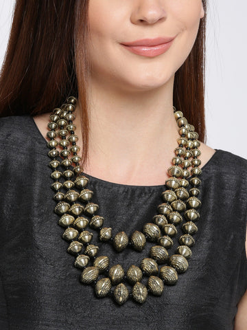 Infuzze Gold-Toned Layered Necklace - P048
