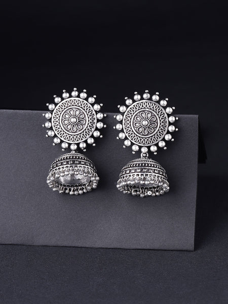 Infuzze  Textured Dome Shaped Jhumkas