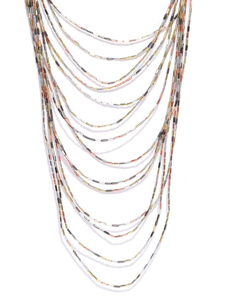Infuzze Gold-Toned Layered Necklace