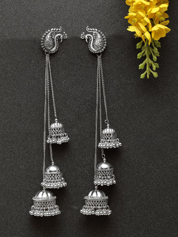 Infuzze Silver Earrings - W039