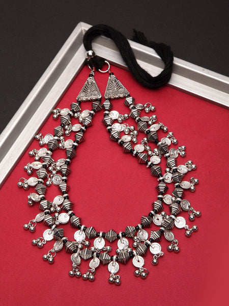 Infuzze Silver Layered Necklace