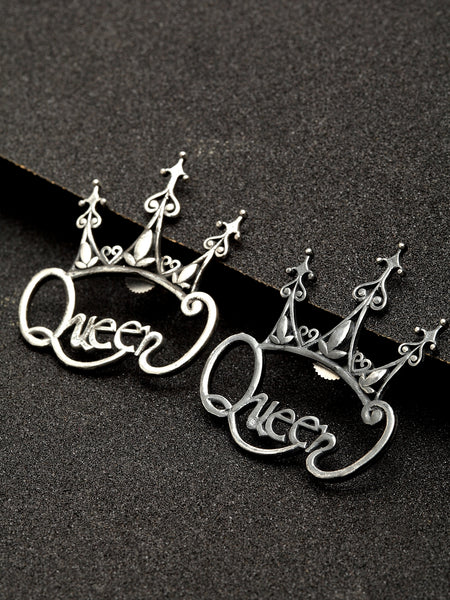 Infuzze Designer Queen Silver Look Alike Earrings