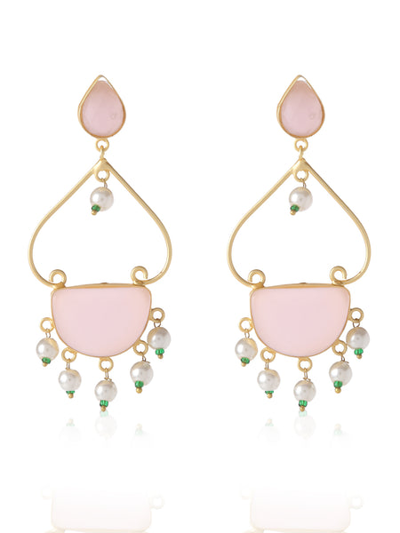 Infuzze Pink Contemporary Earrings