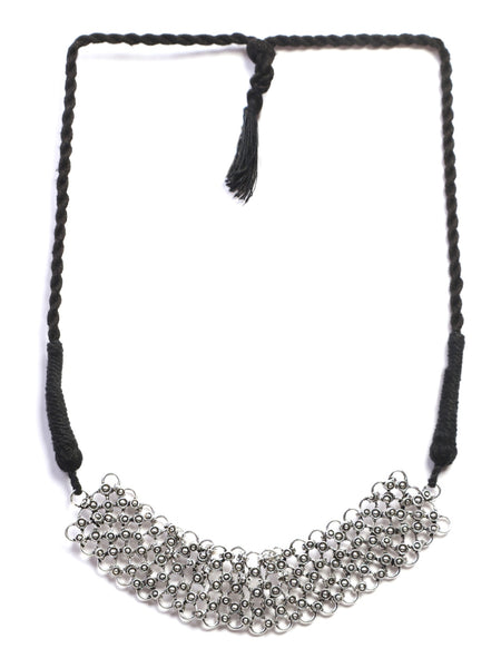 Infuzze Silver-Plated Choker Brass Necklace - Z0045